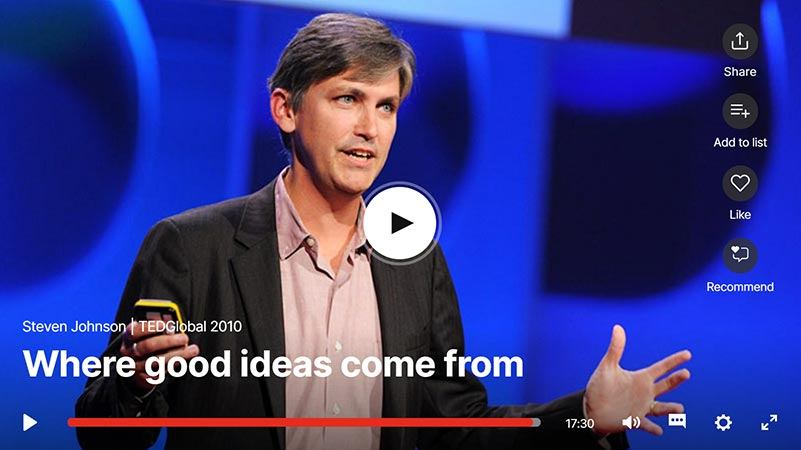Discover Where Good Ideas Come From