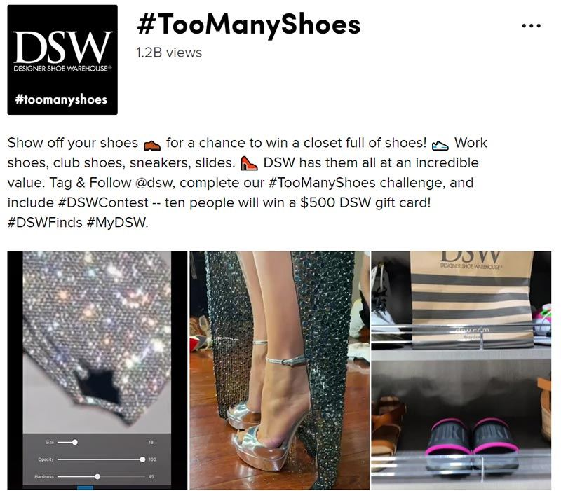 DSW's Debut Hashtag Challenge on TikTok Racks Up 732M Views