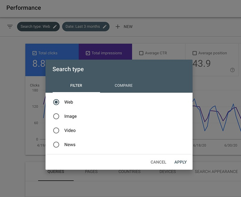 News Filter Added To Google Search Console Performance Report