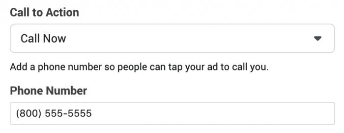 Create Facebook Ads that Initiate a Phone Call