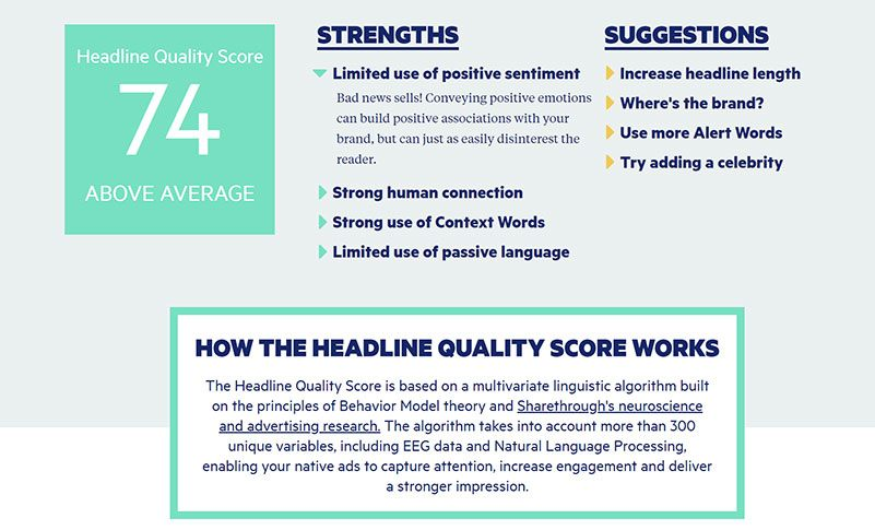 Improve Your Headlines & Email Subject Using Headline Analyzer