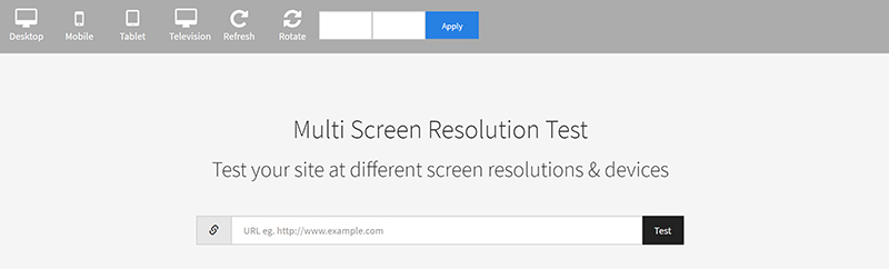 Test Your Site At Different Screen Resolutions & Devices