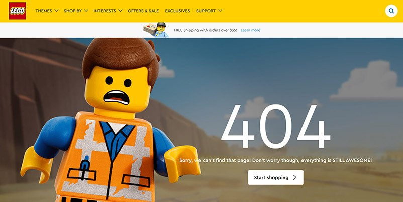 37 of the Best Examples of 404 Pages