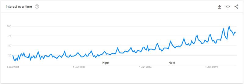 Dog Bed Google Trend