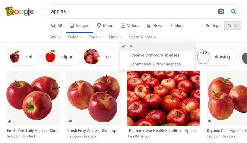 Google Removes 'Labeled for Reuse' Options from Image Search Tools