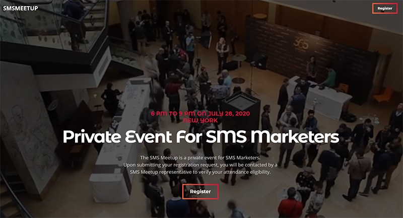The SMS Meetup