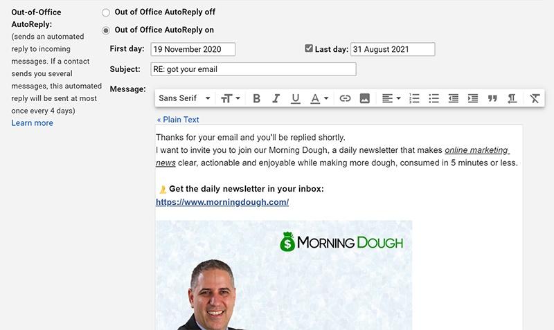 What Is Gmail Autoresponder