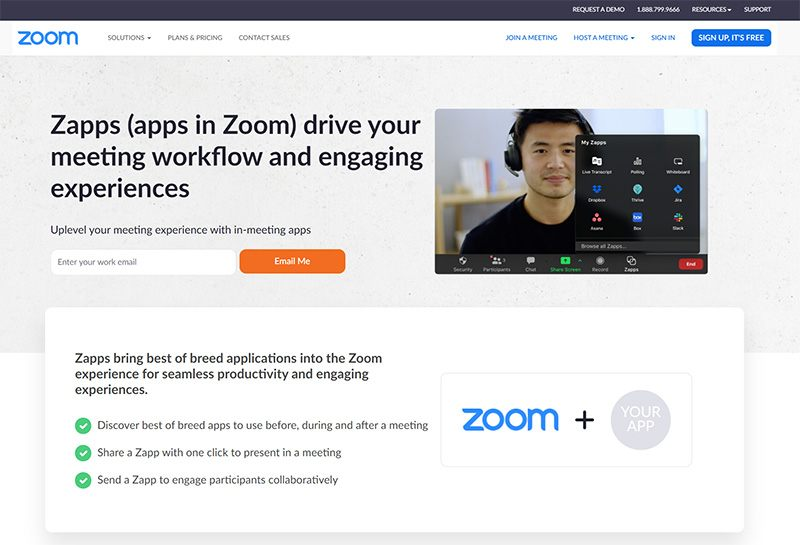 Zapps (Apps Store In Zoom)