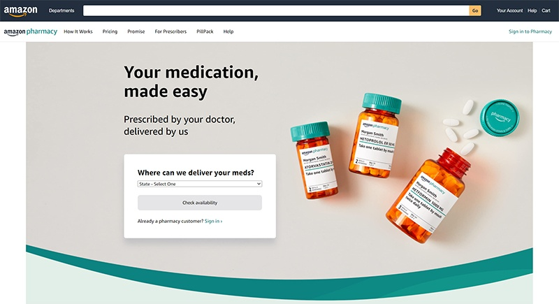 Amazon Launches Amazon Pharmacy for Prescription Medicine Delivery