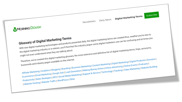 We've Added an Extensive Glossary of Digital Marketing Terms