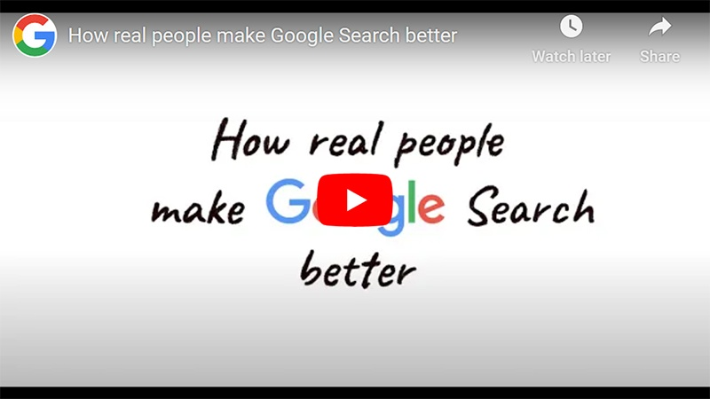 Google Search Quality Evaluators/Raters
