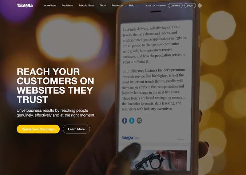 Taboola Native Advertising Network & Discovery Platform