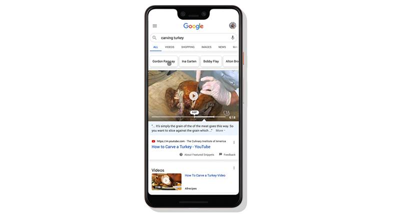 Google will take into account your past searches