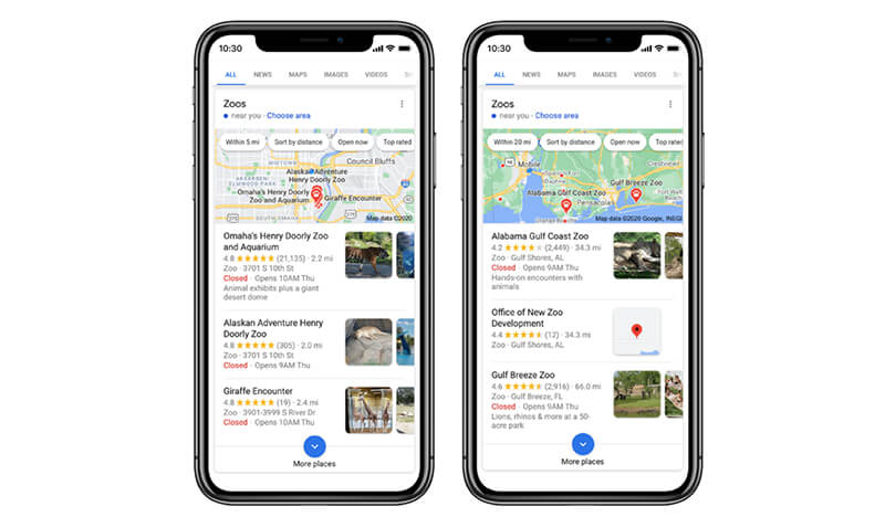 How location helps Google provide more relevant search results
