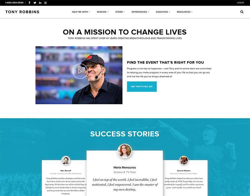 How Tony Robbins Generates 1,250,000 Website Visitors Per Month?