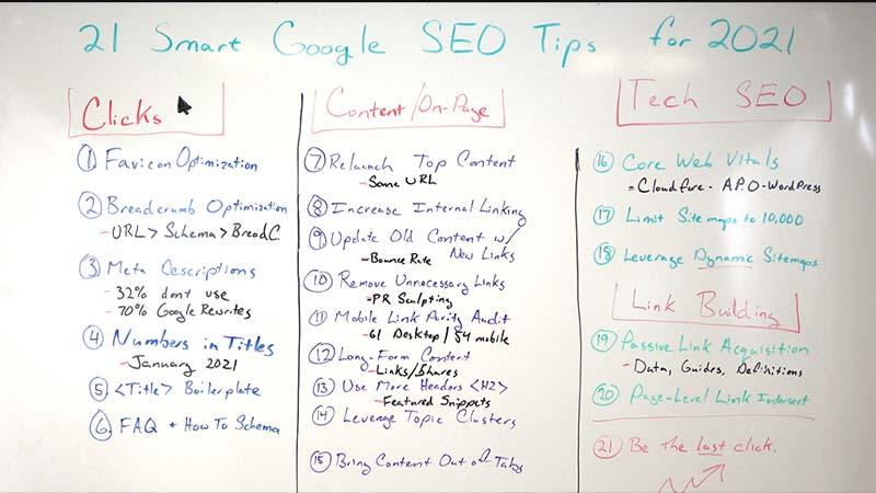 21 Smart Google SEO Tips for 2021