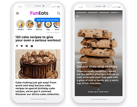 """Taboola joins Instagram in introducing """"Stories"""" for the open web."""