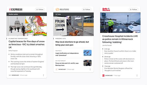 Google News Showcase is launching in the U.K.