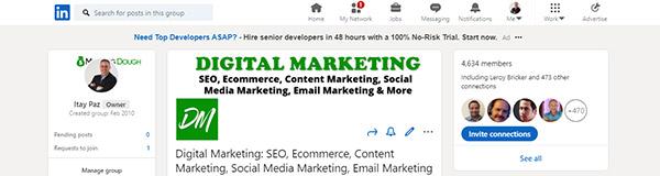 professional digital marketing LinkedIn Group