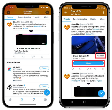 Twitter tests new e-commerce features for tweets