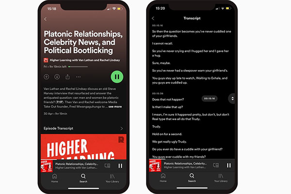 Spotify will auto-transcribe podcasts over the coming weeks