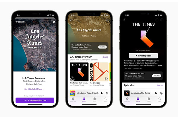 Apple Podcasts' in-app subscriptions are now live