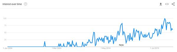 Detangling Hair Brush Google Trend