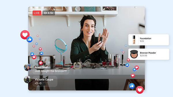 Facebook launches live-stream shopping events, the next stage in its evolving ecommerce push