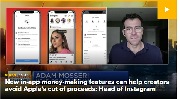 Instagram CEO says Facebook will help users get around Apple's cut of transactions