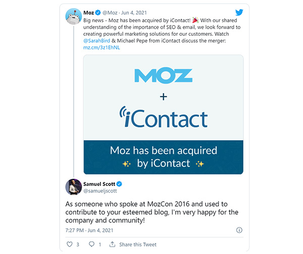 Moz acquired by iContact with plans to improve SEO toolset