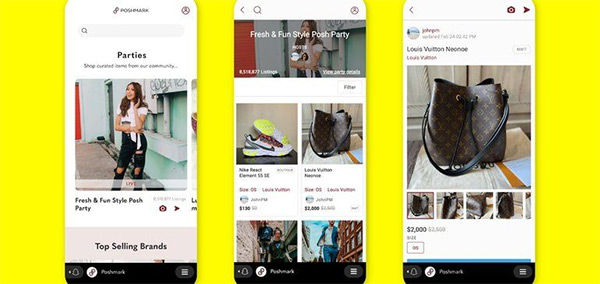 Snapchat partners with Poshmark to bolster social shopping experience