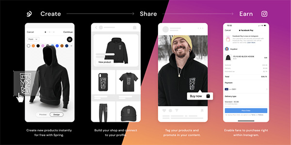Spring partners with Instagram to boost product sales by creators