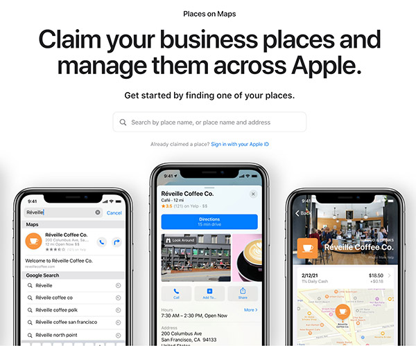 Apple Places: Manage your business listings in Apple maps