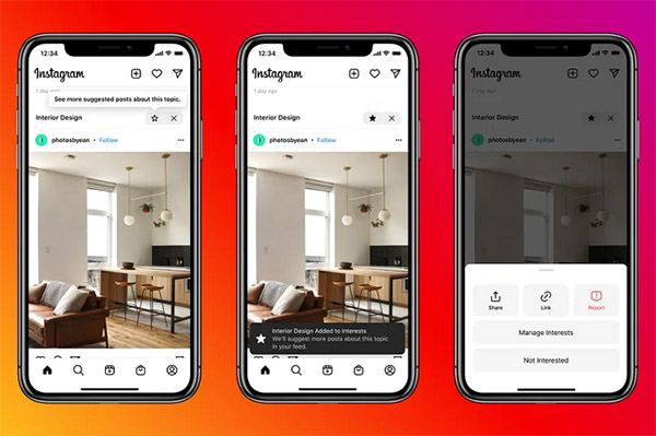 Instagram tests new content recommendations within the main feed, sometimes above profiles you follow