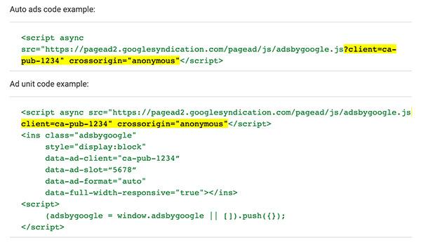 New faster Google AdSense embed code