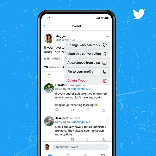 Twitter now lets you limit who can reply to a tweet after the fact