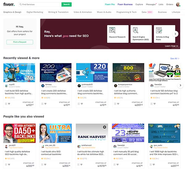 Case Study: We bought 3 affiliate keyword research gigs on Fiverr