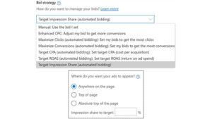 Microsoft Advertising Target Impression Share Bidding & More