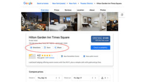 Google Hotel Search Results Drops Visit Website Button