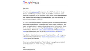 Google News app will display non-AMP content and send readers to publisher pages