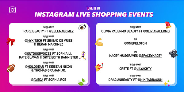 Instagram launches '10 days of live shopping' event to showcase its evolving ecommerce tools