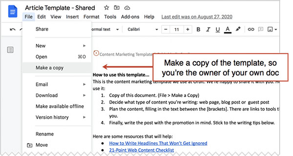 Steal This Content Marketing Template