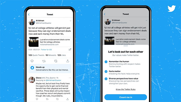 Twitter's latest pre-tweet prompts let you know when you're about to jump into a Twitter fight
